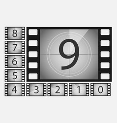 Movie countdown numbers set vector