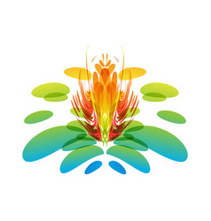 multicolored fantasy flower vector image