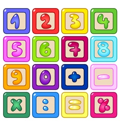 number blocks vector image