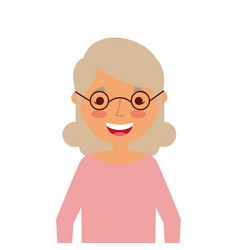 Old woman portrait lady grandma cartoon vector
