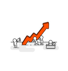 People red arrow up office vector