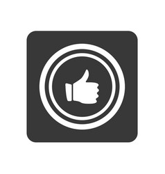 Quality control icon with thumb up sign vector