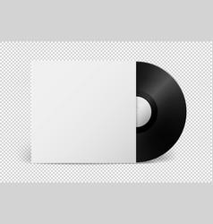 realistic empty music gramophone vinyl lp record vector image