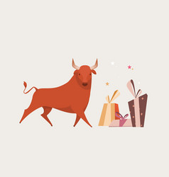 red bull isolated for greeting cards vector image