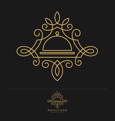royal food - luxury restaurant logo template vector image