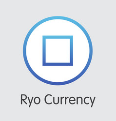 Ryo currency - blockchain cryptocurrency vector