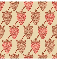 seamless background with strawberry vector image