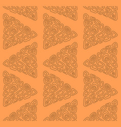 seamless pattern with abstract triangles vector image