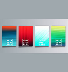set colorful gradient cover with hand drawn vector image