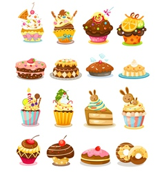 set cupcake vector image vector image