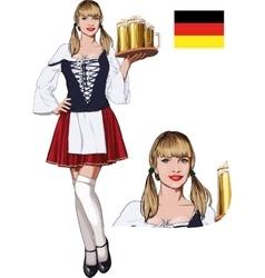 Sexy Bavarian girl vector