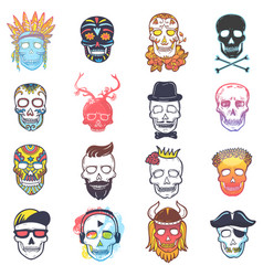 skull mexican dead head and crossbones and vector image