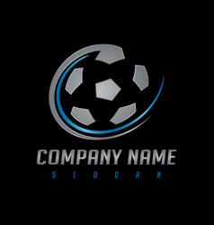Soccer silver logo vector