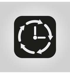 Time icon Time and watch timer symbol UI Web vector