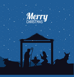 Traditional christian christmas vector
