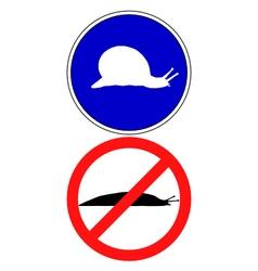 Traffic signs for slugs vector