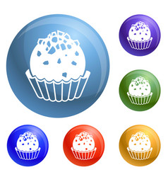 truffle icons set vector image
