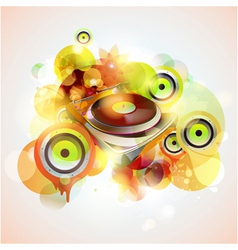Turntable and loudspeakers vector image