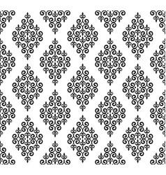 vingtage damask pattern vector image