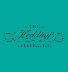 Wedding logo celebration image vector