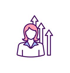 Woman ambition rgb color icon vector
