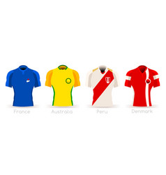 World cup group c team uniform vector