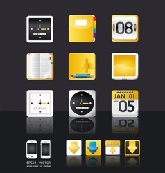 apps icon set tablet mobile phone vector image vector image