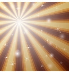 Background with shining star with divergent bundle vector image