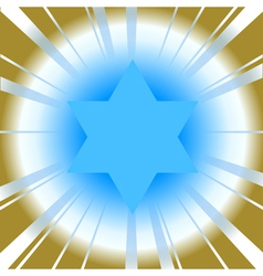 background with star of david vector image