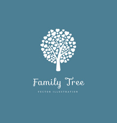 family tree with hearts vector image