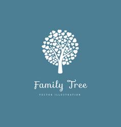 Family tree with hearts vector