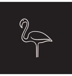 Flamingo sketch icon vector image