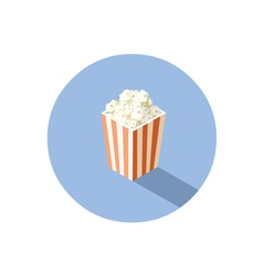 isometric of box with popcorn cinema food vector image