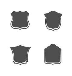 shields templates with place for your text vector image