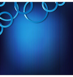 Dynamic Blue Background With Circles vector image vector image