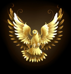 Gold Dove vector image