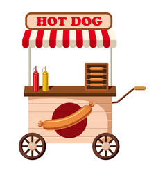Hot dog mobile snack icon cartoon style vector