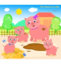 The three little pigs 1 vector