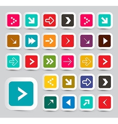 Arrows - Colorful Paper Arrows Set in Rounded vector image vector image