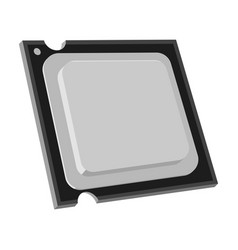 central processing unit icon in monochrome style vector image
