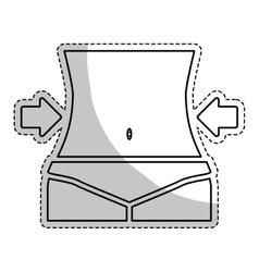 female body icon vector image