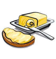 fresh butter vector image vector image