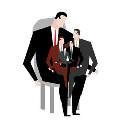 office relatives corporate kinsfolk business vector image vector image
