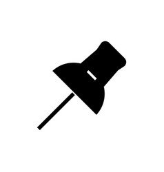 pin icon black sign on vector image