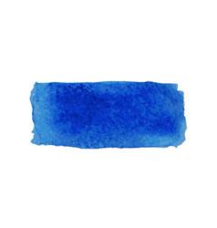 blue watercolor smear brush strokes vector image