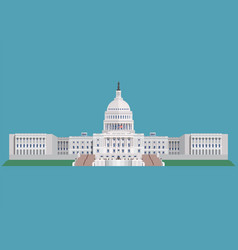 capitol building united states of america vector image