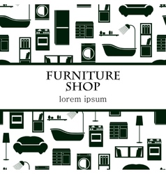 Home interior furniture background vector image vector image
