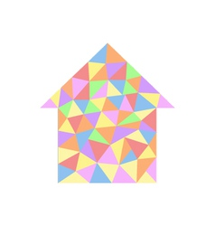 House with colored triangles vector image vector image