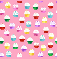 pattern with cakes vector image vector image