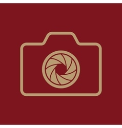The camera icon photo symbol flat vector